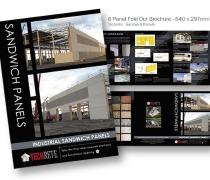 Techrete Sandwich Panel Brochure - 6 Panel Fold Out